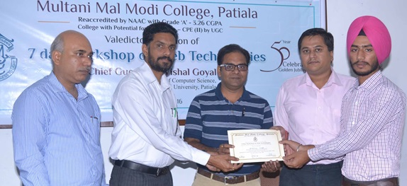 Seven Day Workshop on Web Technologies concluded