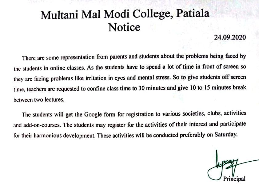 Enrollment Notice