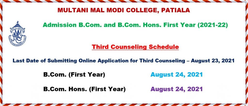 Third Counseling