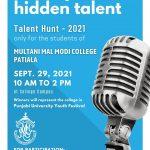 Important Information regarding Talent Hunt – 2021 on Sept. 29, 2021