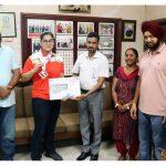 Tanishbir Kaur Sandhu of M M Modi College wins Silver Medal in International ASBC Asian Youth Boxing Championship at Dubai