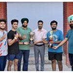 M. M. Modi College Wins Punjabi University Table Tennis (Men) Championship